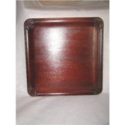 Mahogany Tray Hand Carved 19th Century #2358211