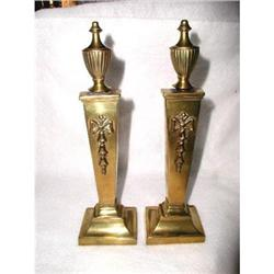 Brass Firedog Bookends C.1880 English #2358214