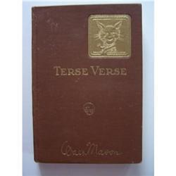 Terse Verse by Walt Mason - SIGNED #2355681