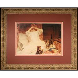Masterpiece, Child with Kittens, Portrait Print#2355689