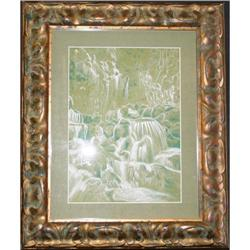 Waterfalls by Rose Brown pastel chalk drawing #2355699