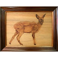 """Deer at Attention"" by Unknown - Woodburning #2355704"