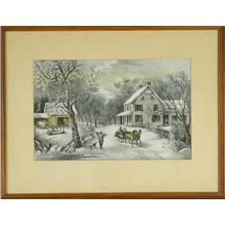 Currier and Ives, ?American Homestead Winter? #2355707