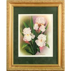 Iris Realist Flowers Lithograph Crystal Skelley#2355719