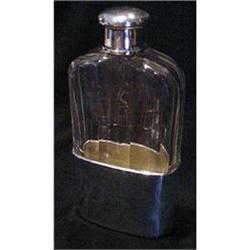 Tiffany Sterling & Crystal Flask #2370959