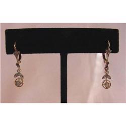Art Nouveau Diamond Earrings #2370965