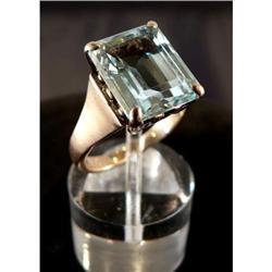 Antique 18K Aquamarine Ring #2370969
