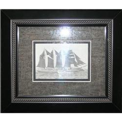 Black & White photograph ships sailing rough #2370974
