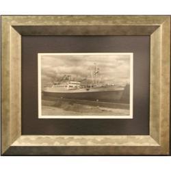 Black & White photograph ships sailing rough #2370975