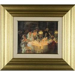 Print Dinner Party impressionist #2370985