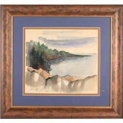 Modern Contemporary  Landscape Watercolor Cohn #2370986