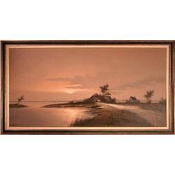 Seaside House, Original Oil by Martens #2370987