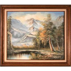 Snow Covered Mountains landscape painting #2370988