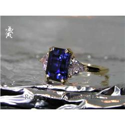 RHJ Rich Synthetic Sapphire Ring w #2370998