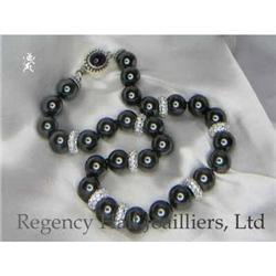 RHJ Black Swarovski Beads w/ CZs #2370999