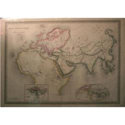 Dufour Monde Connu des Anciens Map of World #2393513
