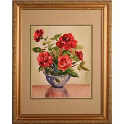 Still Life Roses, Floral Watercolor painting #2393517