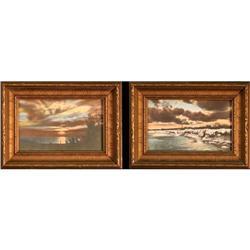 """""""A Lake Huron Sunset"""" & """"Lake Huron in Winter"""" #2393523"""