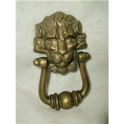 Brass Door Knocker French Lion C.1900 #2393525
