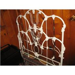 White Cast Iron Brass Bed Full Size or Queen #2393529