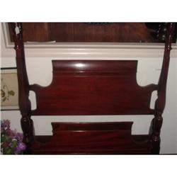 Twin Size Mahogany Poster  Bed #2393530