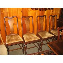4- Queen Anne Dining Chairs, Walnut #2393533