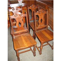 4 Jacobean  English Oak Side Chairs. $75 each #2393534