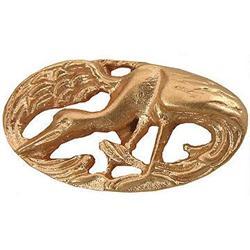 Antique 18K Gold Flamingo Nouveau Cufflinks #2393544