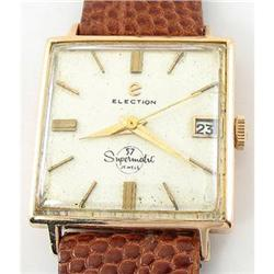Vintage 18K Gold Election Watch Supermatic Rare#2393550