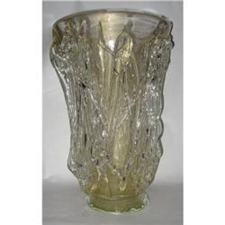 Signed Murano Hand Blown Glass Vase #2393554