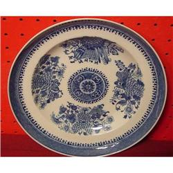 CHINESE EXPORT BLUE FITZHUGH SOUP  PLATE #2393557