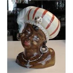 LOVELY BLACK GIRL - HEAD VASE #2393571