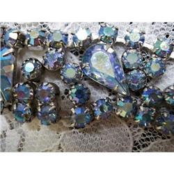 LUSH IRIDESCENT BLUE RHINESTONE BRACELET #2393585