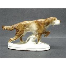 GERMAN PEDESTAL FIGURINE SETTER DOG #2393598