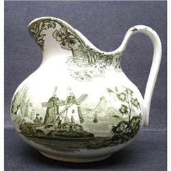 OLD DOULTON'S GREEN TRANSFER JUG #2393611