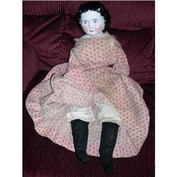 """22"""" Big China With Old  Body and Dress 1860's #2393617"""