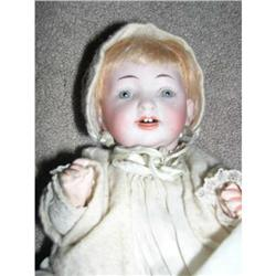 """8"""" Set Eyes Bisque Baby Open Mouth Doll #2393618"""