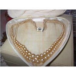 Laguna strands beads, pave clasp vintage box! #2393621