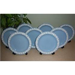 Set of 8 Wedgwood Queen's Ware Dinner Plates #2393624