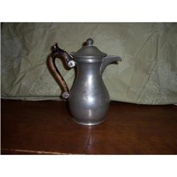 PEWTER PITCHER/WOOD HANDLE #2393625