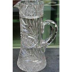 American Brilliant Cut Glass Pitcher #2393627