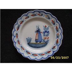 Quimper ware plate lady scallop #2393631