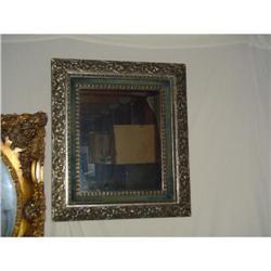 Hammered Metal floral frame mirror #2393637