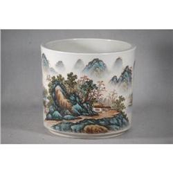 Chinese Famille Rose Porcelain Pen Holder    #2393640