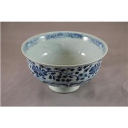 Chinese  blue  and  white  porcelain  bowl.    #2393644