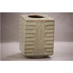 Chinese  celadon  cong  style  vase #2393647