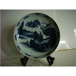 chinese blue and white porcelain plate #2393656