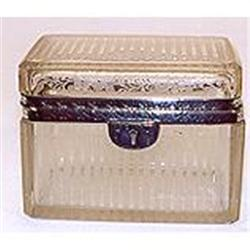 Sterling silver banded crystal box #2393674