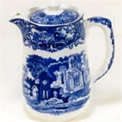 George Jones blue and white coffee pot #2393677