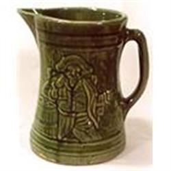 Large green majolica pitcher by McCoy #2393680